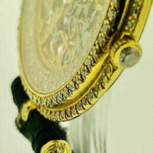 U1055 Sehr seltene skelettiert Diamantarmbanduhr mit Diamantbesatz VON CLEEF & ARPELS