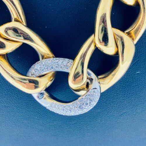 S1011 Collier mit Diamantbesatz
