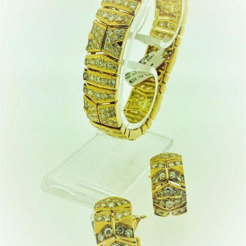 S1094 Cartier Boutique Couplet von Armband und Ohringen