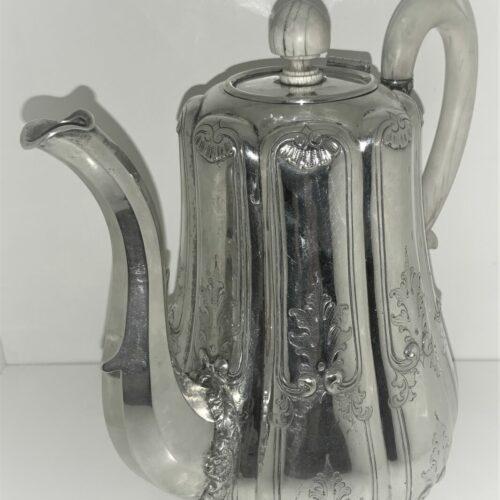 A1012 Kaffekanne Silber Rokoko um 1860 Berlin