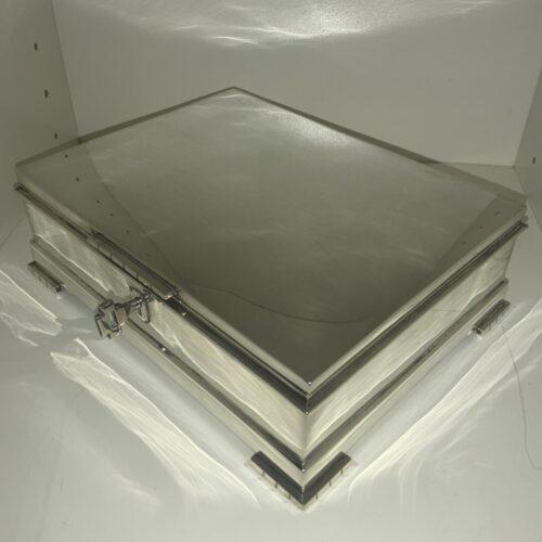 A1009 Schmuck Schatulle Silber Art Deco