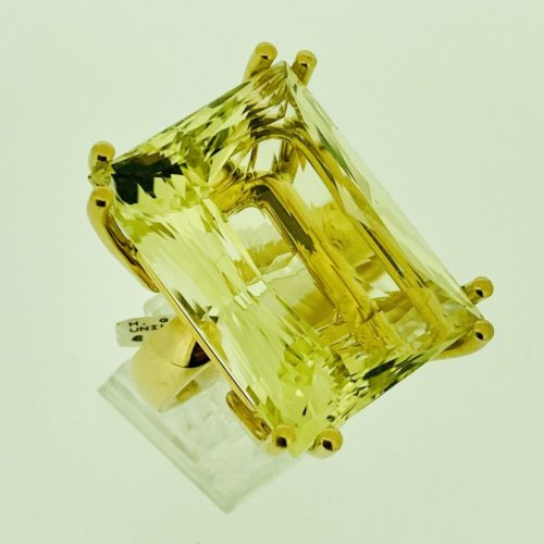 S1103 Ring mit 83 ct Lemoncitrin