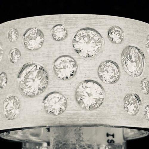 S1104 Brillantring Bandring mit Diamanten (gestohlen)
