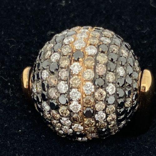 S1108 Ring Kugel mit Diamanten (gestohlen)
