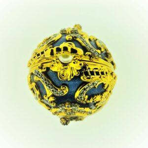 A1014 FABERGÈ Juwelenei Blau mit Brosche