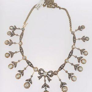 S1020 Collier Antik Rosenschliff Diamanten ca.12,85ct