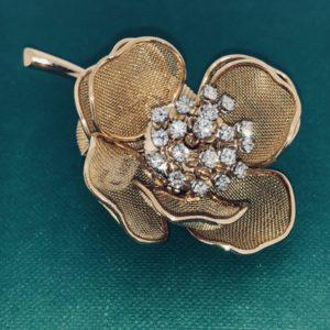 S1037 Brosche Blume