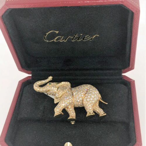 S1019 CARTIER Paris Brosche Elefant